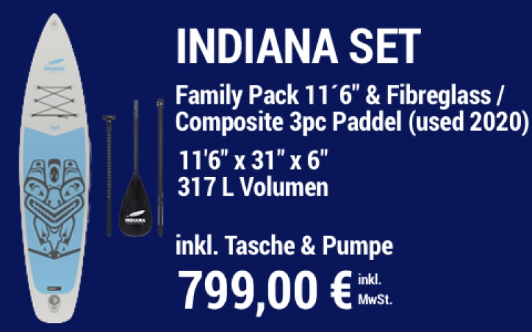 MAIN SUP Showroom IND SET Family Pack 2020 11.6 grey IND Paddle