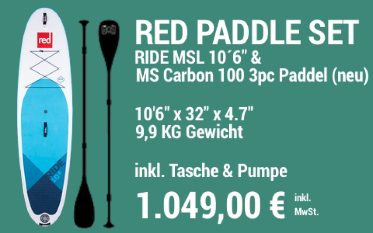 MAIN SUP Showroom RED SET Ride 10.6 MS Carb 100 3pc