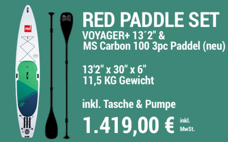 MAIN SUP Showroom RED SET Voyager+ 13.2 MS Carb 100 3pc